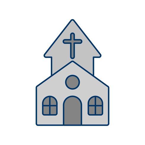 Icono de vector de iglesia