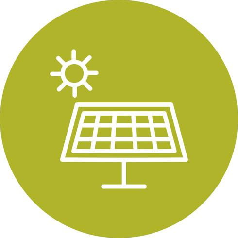 Icona di vettore di energia solare