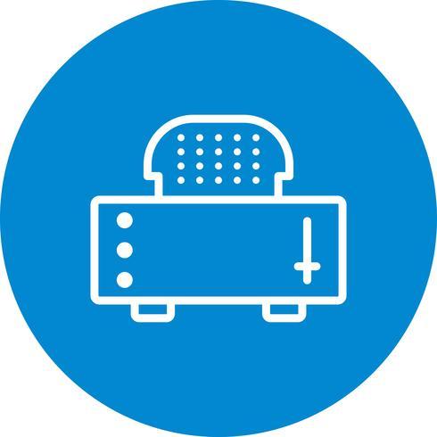 Scheibe Toaster-Vektor-Symbol
