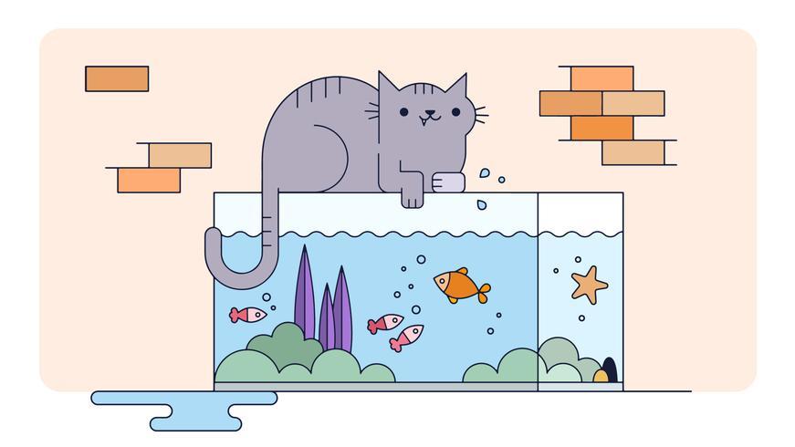 Frecher Katzenvektor