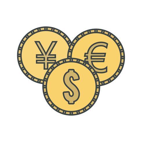 Vector icono de monedas