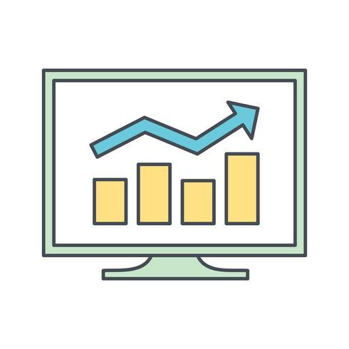 Geschäftsdiagramm-Vektor-Symbol