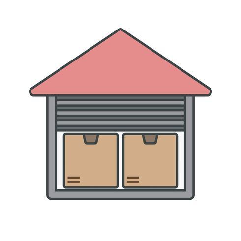 Icône de l'unité de stockage de vecteur