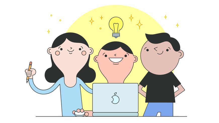 Schul Teamwork Vektor