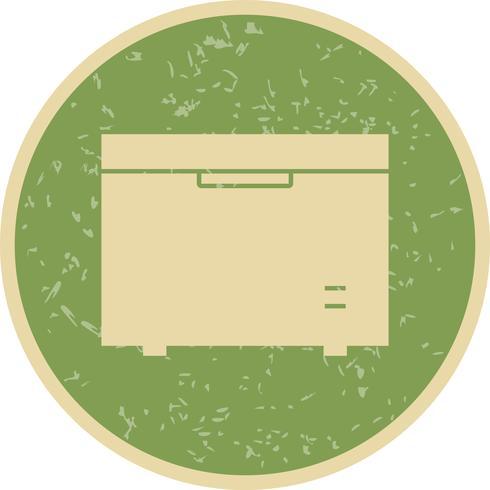 Tiefkühlschrank Vektor Icon