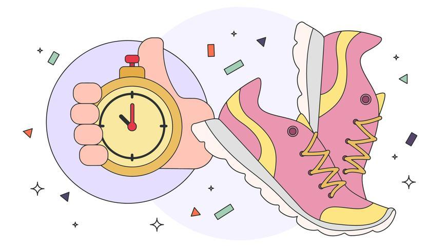 vettore di scarpe da corsa