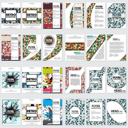 Niedriger Polyfliegerarthintergrund Design-Schablone