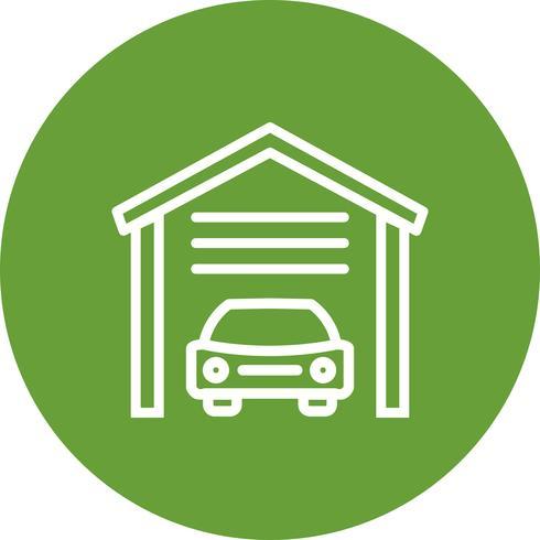 Icona di vettore del garage