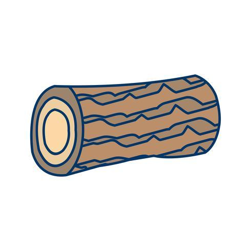 Icona di vettore di legno