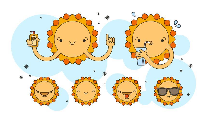 Sommer Sun Set Vektor