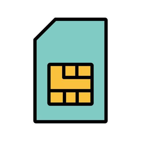 Icona di vettore di Sim