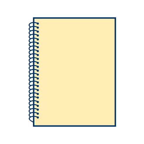 Icona del quaderno a spirale vettoriale