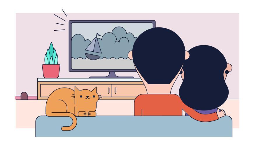 tv-filmvektor vektor