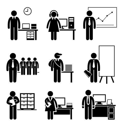 Oficina Empleo Ocupaciones Carreras. vector