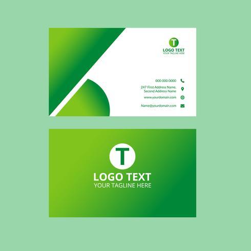 Tarjeta de visita impresionante verde