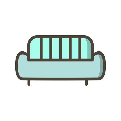 Sofa-Vektor-Symbol