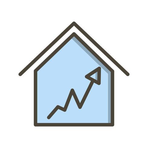 Icona del grafico casa vettoriale