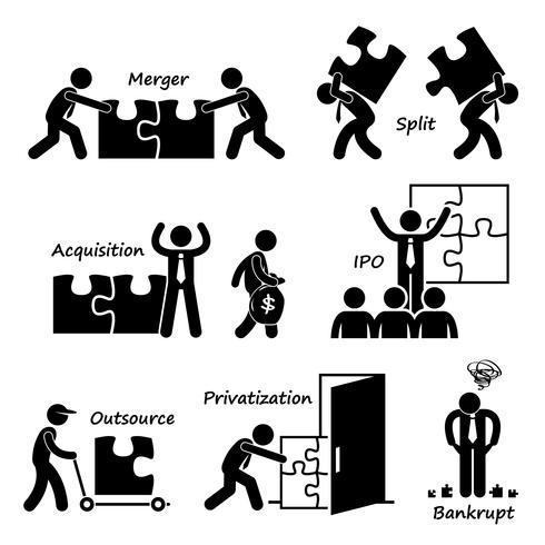 Corporate Company Business Concept Stick Figure Pictogram pictogram Cliparts.