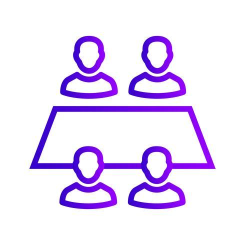 Werkende Team Vector Icon