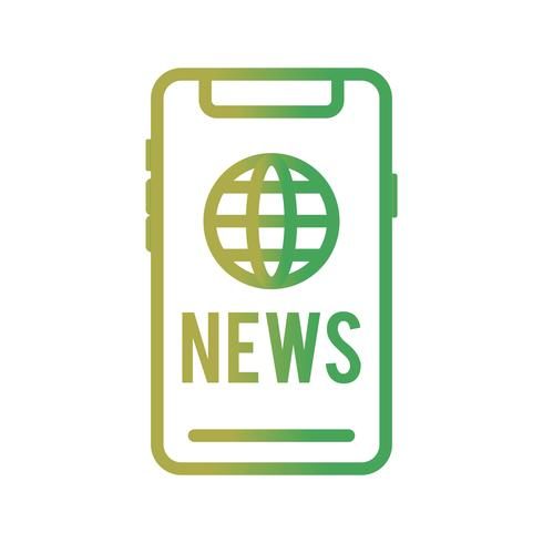 Vector icono de noticias