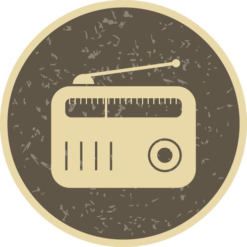 Icona di vettore di radio
