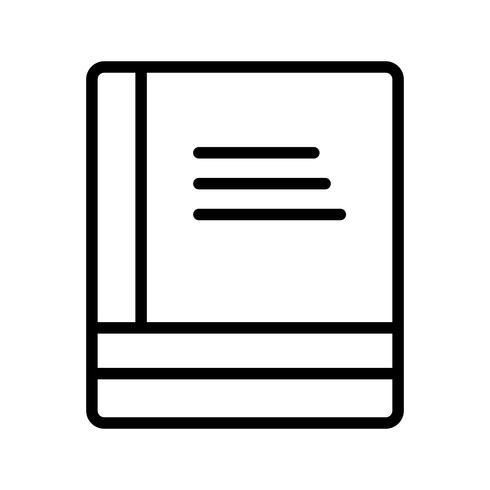 Icona di libri vettoriali