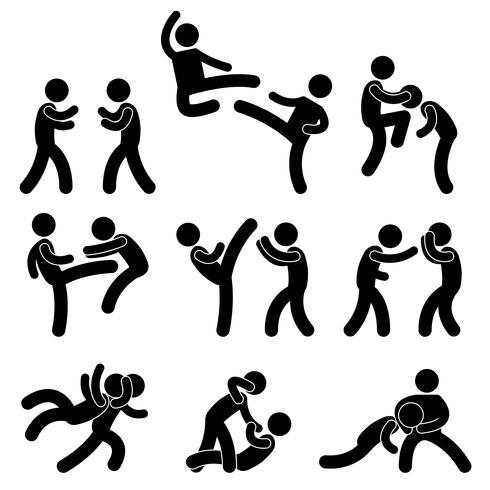 Lucha de combate Muay Thai Boxeo Karate Taekwondo Lucha.