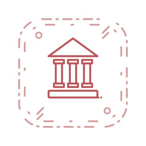 Icono de instituto educativo vector