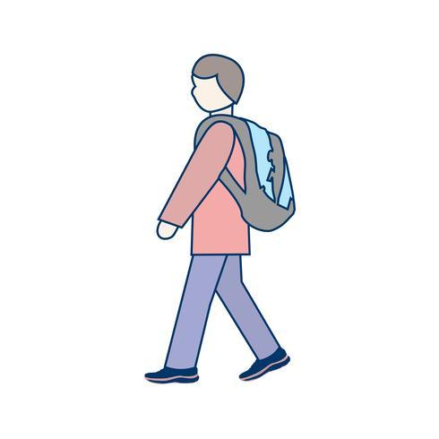 Vector Walking to School Icon