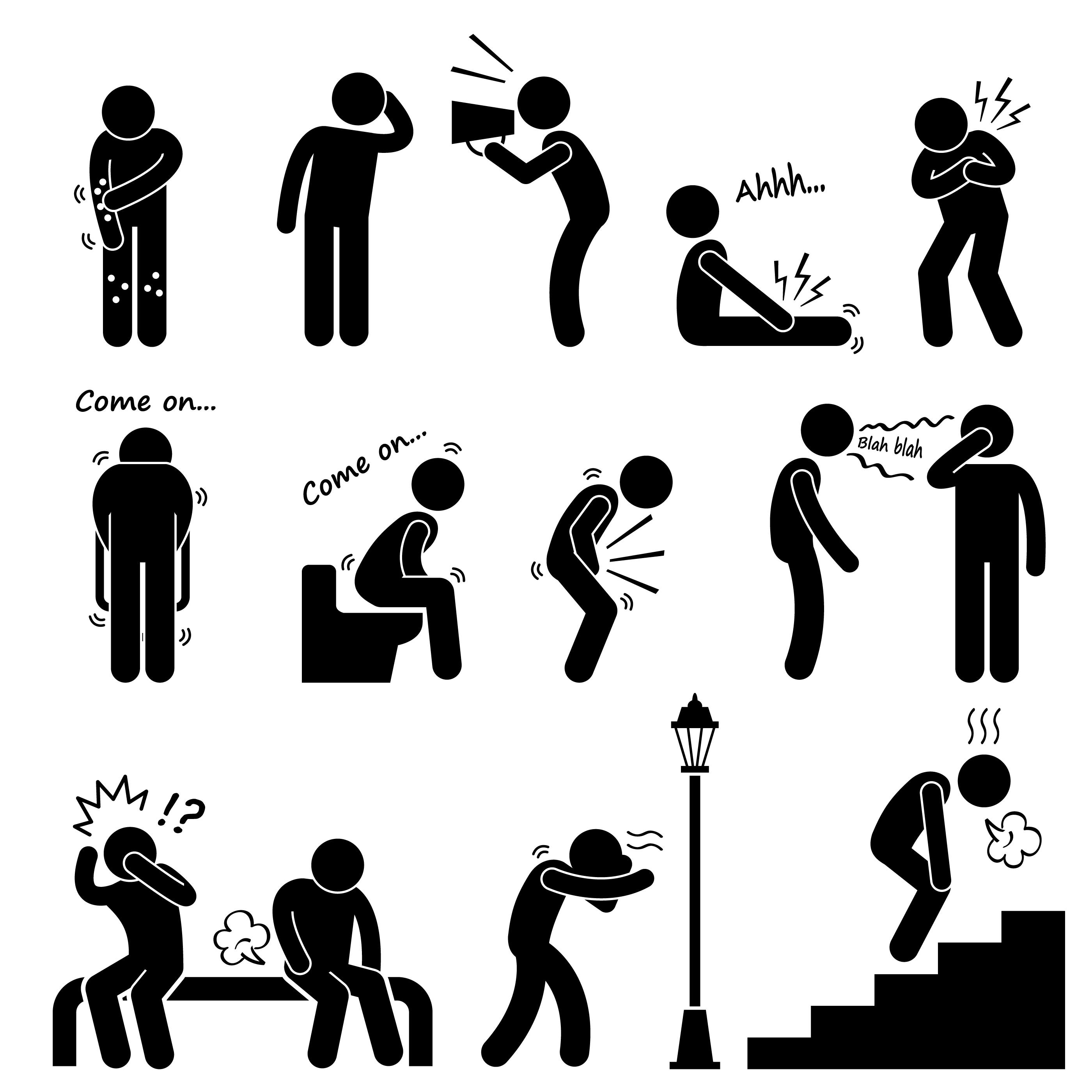 Ziekte Van De Mens Ziekte Ziekte Symptoom Syndroom Borden