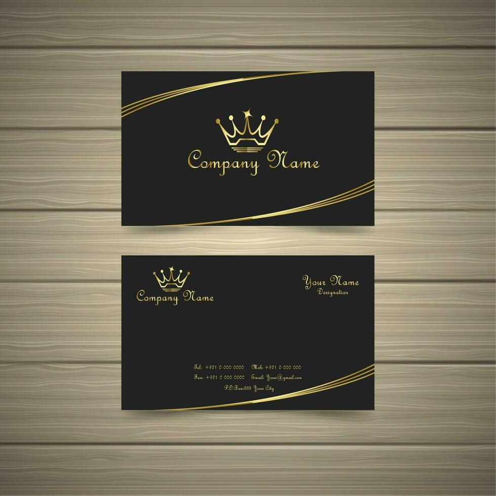 Cartão simples do ouro