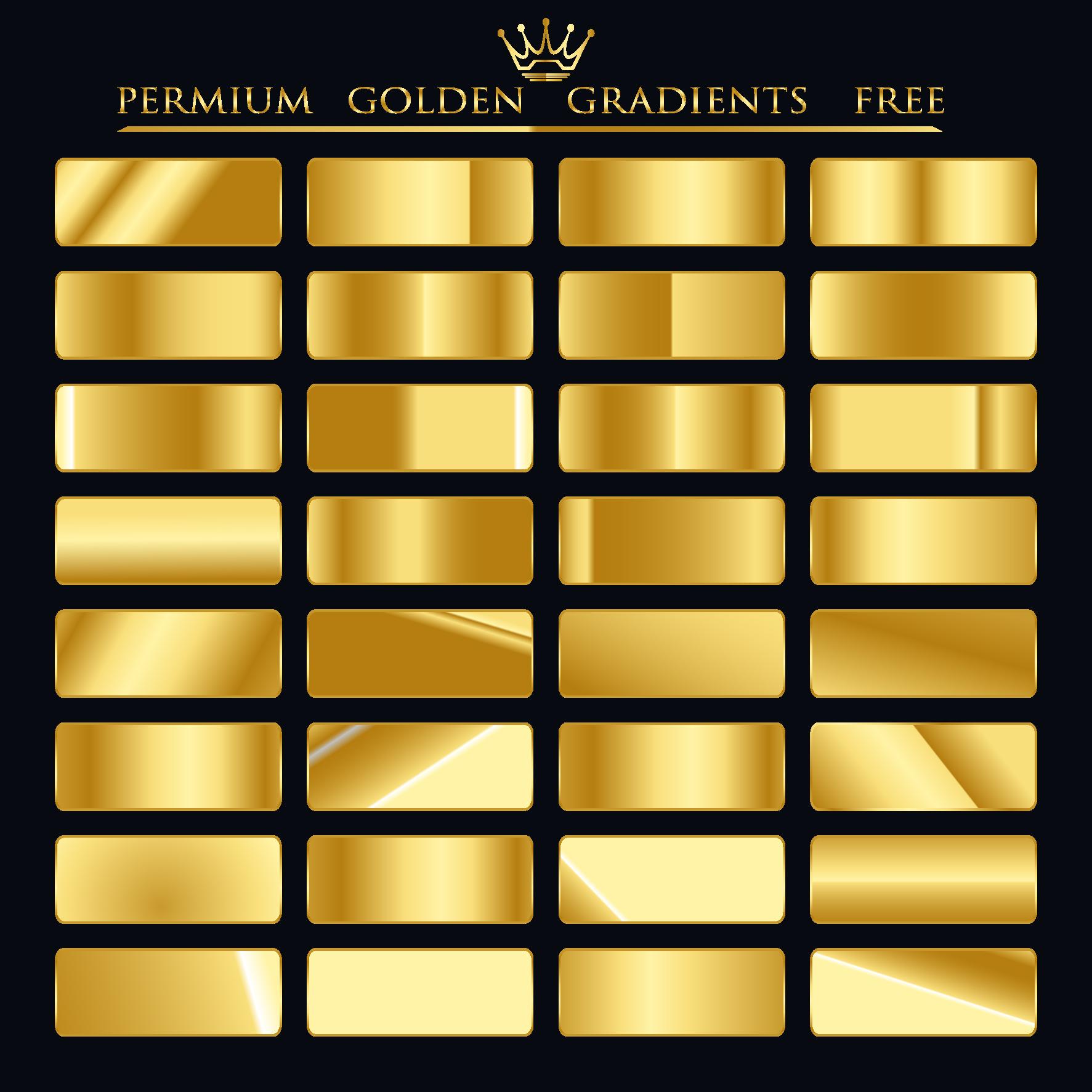 Premium Golden Gradients For FREE