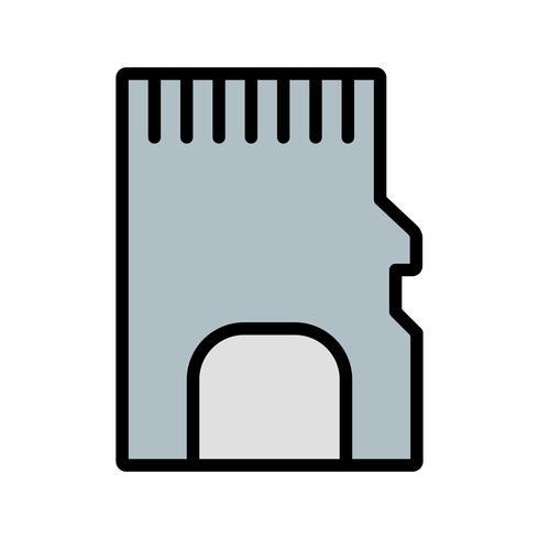 Tarjeta de memoria Vector icono