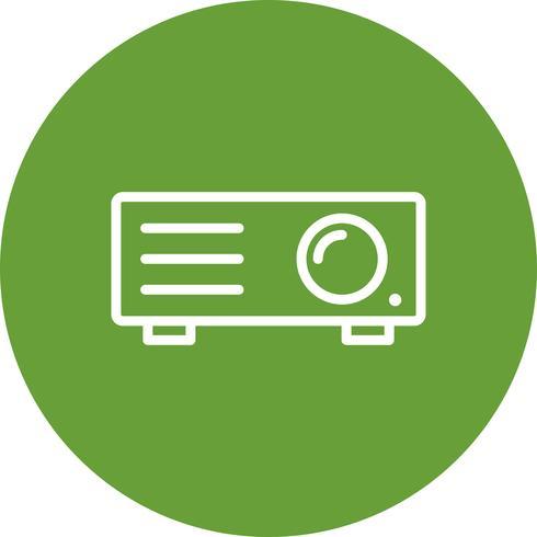 Icono de vector de proyector