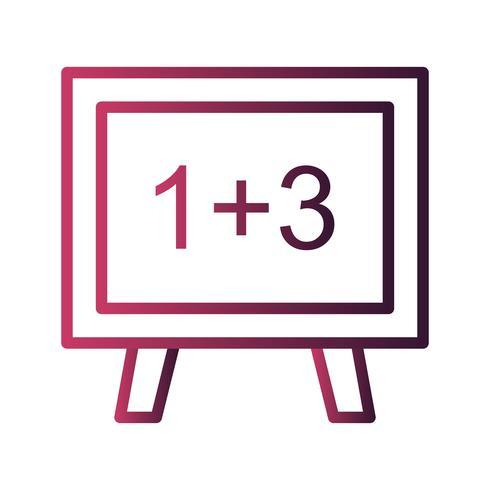 Icona di matematica vettoriale
