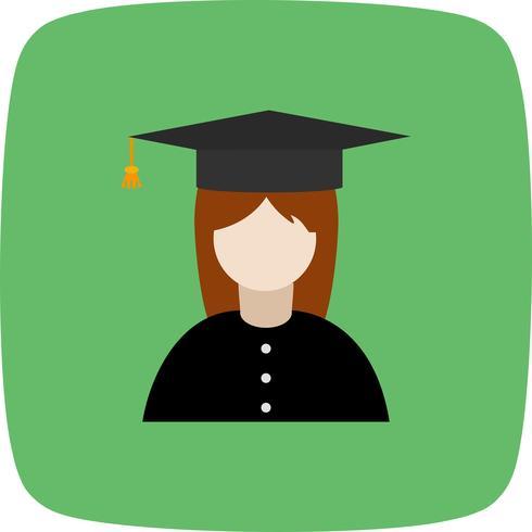 Icône de vecteur étudiante