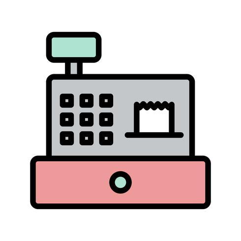 Ícone de contador de dinheiro vetor