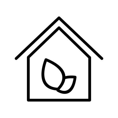 Ícone de vetor de casa ecológica