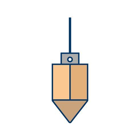 icono de vector de plomada