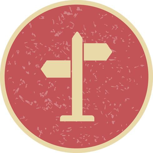 icône de vecteur de directions