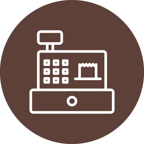 Icona di contatore di contanti vettoriale