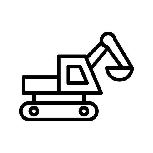 Icono de vector de excavadora