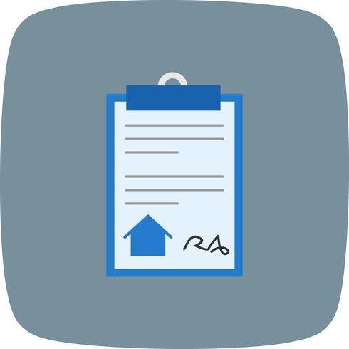 Casa documento Vector icono