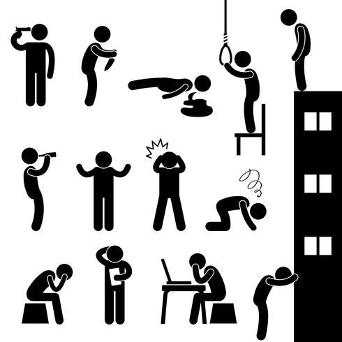 Homem Suicídio Morte Desesperada Morte Estresse Triste.