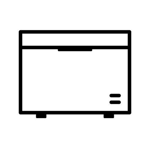 Deep Freezer Vector Icon
