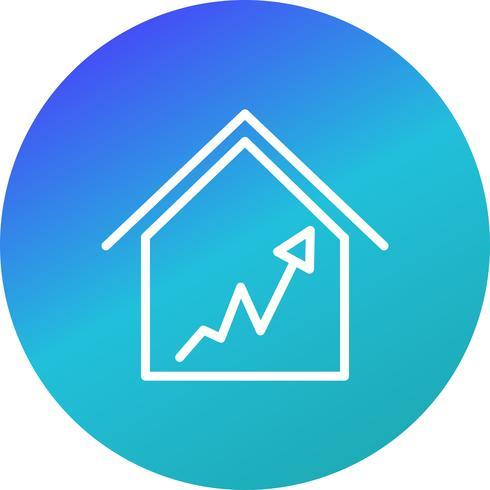 Graph House Vector Icon