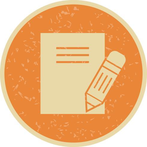 Vector icono de notas