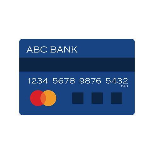 Ícone de cartão de crédito do vetor