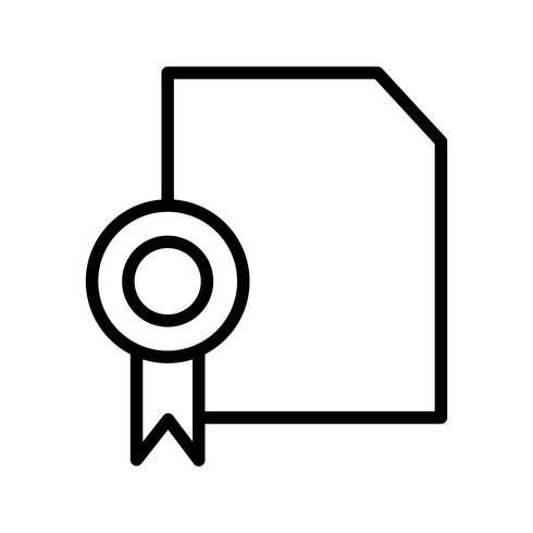 icono de diploma de vector