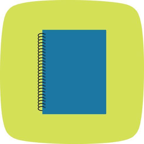 Vector icono de cuaderno de espiral